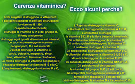 Come evitare carenze vitaminiche