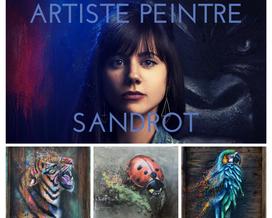 Sandrot artiste peintre - oeuvre caritative - LMC-Leucémie- Appel au don- Crowdfunding-Recherche- association- IPC