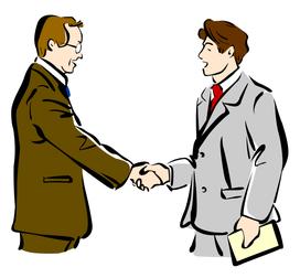 友好的な相手と交渉が成立?