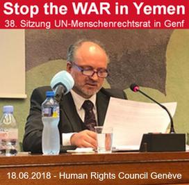 Mathias Tretschog - 09.06.2018 bei der 38. Sitzung der UN-Menschenrechtsrates in Genf