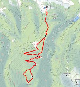 Routenverlauf Vorderstoder - Wilde (Brennert) - Wildenalm - Steyersbergerreith