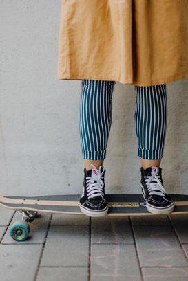 Leggings, faire Leggings, streifen leggings, längsstreifen, blickdichte Leggings, hochwertige Leggings, gots, Biobaumwolle, halfbird, lange Leggings