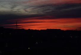23. September 2014 - Es brennt - im Himmel