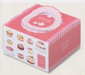 デコレーションケーキ箱イラストデザイン オールシーズン用