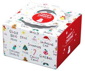 デコレーションケーキ箱イラスト・デザイン クリスマス用