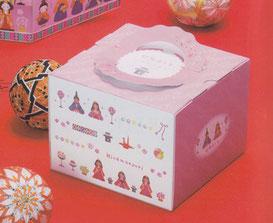 デコレーションケーキ箱イラストデザイン ひなまつり用