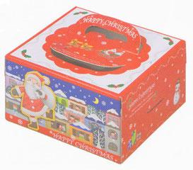 デコレーションケーキ箱イラストデザイン クリスマス用