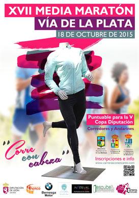 XVII MEDIA MARATON VIA DE LA PLATA - La Bañeza, 18-10-2015