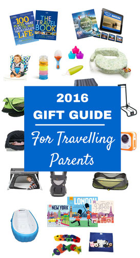 Holiday Gift Guide for Travelling Parents. Read more at www.BabyCanTravel.com/blog