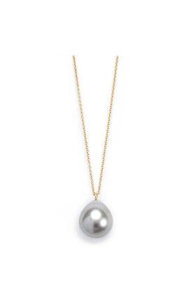 Goldkette mit Perle in Tropfenform