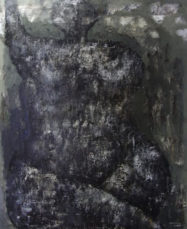 Black nude   91×72.7cm Oil on canvas