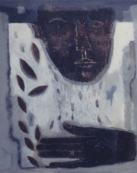 Idea~Leaf~  45.5×38cm Oil on canvas   1997