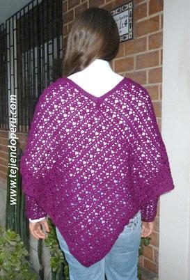 Cómo tejer un poncho con mangas a crochet
