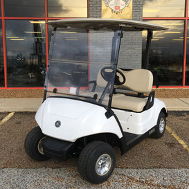 Glacier White Yamaha Golf cart