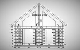 Werkplanung  Ausführungsplanung Bauherr Blockhaus  Architekt Holzhaus