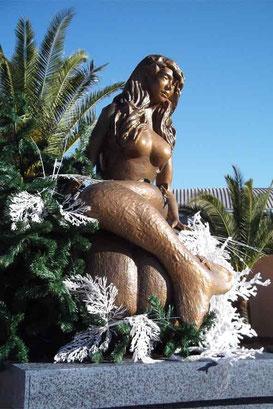 La Sirène en Faux Bronze - Marineland