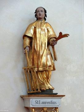 St. Laurentius, Statue im Innenraum