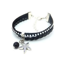 WAI-Bracelet mini manchette, bracelet ETOILE, bracelet plage