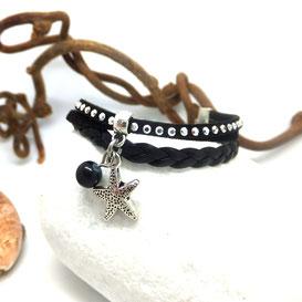 WAI-Bracelet mini manchette, bracelet ETOILE de mer