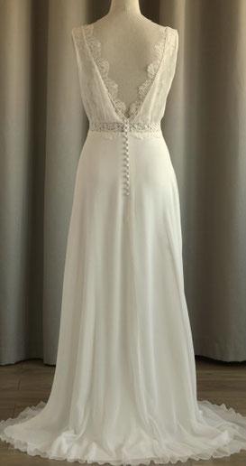 robe de mariée décolleté dos nu yvelines région parisienne