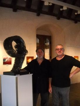 avec sylvain croisy sculpteur - 2014