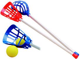 Jeu de Lacrosse ou Crosse Québécoise. Matériel sportif de crosse à acheter pas cher.