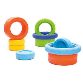 Pneus en plastique, jeux géants de mobilité pour enfants. Jeux sportifs enfants avec des pneus en plastique à acheter pas cher.