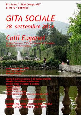 """Gita Sociale 2014- Pro Loco """"I due Campanili"""" di Gaio e Baseglia - Colli Euganei"""