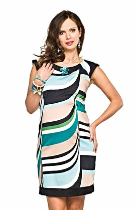 maternity dress turquoise black white