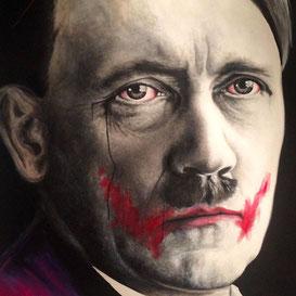 La muerte tiene dos caras / Oil on canvas / 39.37 x 39.37 inches.