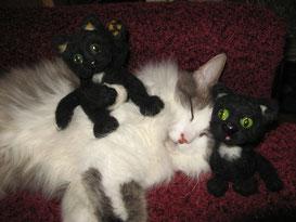 выкройки игрушек,мышка,игрушки, кот вязаный,игрушки своими руками,вязаная игрушка