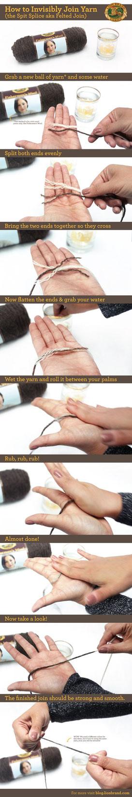 вязание соединение нити полезные советы