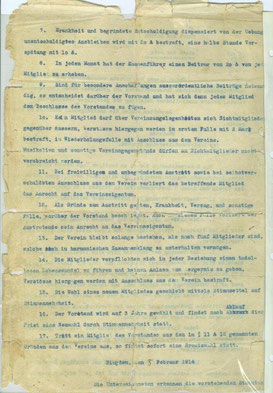 Historie des Musikvereins Birgden