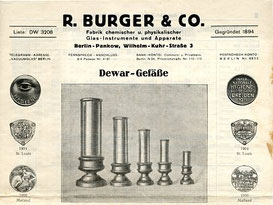 Briefkopf nach 1927, Fa. R. Burger & Co.