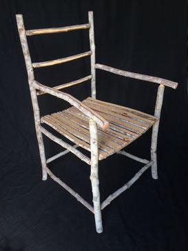 Soap tree armchair, soap tree slats seat, 98cm high x 60cm wide x 60cm deep. $700