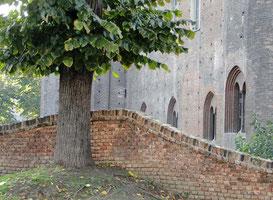 Wall behind Palazzo Madama