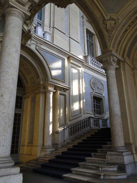 The beautiful staircase of Palazzo Madama