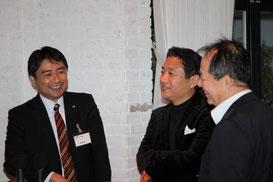 JーREC理事西山さんと浦田さん、新講師談話中