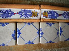 listelli in cotto e ceramica per cucina