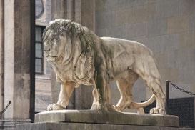 Löwe der Feldherrenhalle am Odeonsplatz