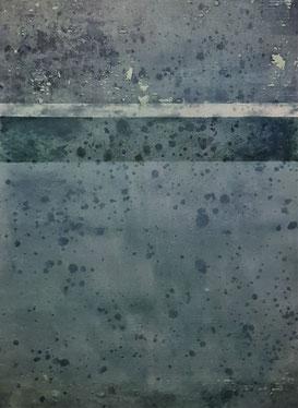 Acryl auf Papier / 56x76 /  August 19 / Blau 3