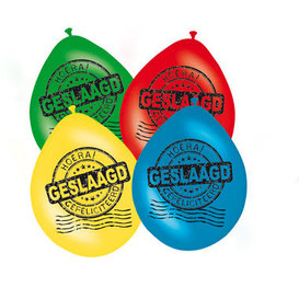 Ballonnen Geslaagd 8 stuks € 2,50