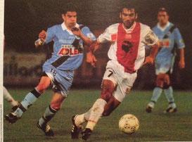 Anthony Garcia  et le Strasbourgeois Johansen