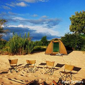 Campingsafari im Zelt in Zimbabwe