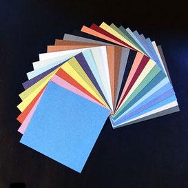 Origami Papier Set - Satogami, durchgefärbtes Papier aus Japan