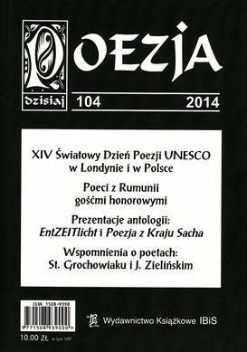 """Poesie / Literaturzeitschrift """"POESIE heute"""", Nr. 104 Hrsg. Aleksander Nawrocki, IBiS, Warschau, 2014"""