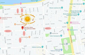 Map Casa Sol y Salsa