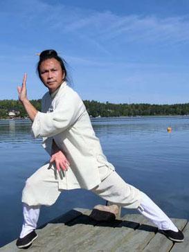 Meister Zhongxian Wu hält den Qigong-Workshop Bagua Xin Jin ab