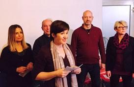 Wortwechsel in Violett; Talkshow für Weltverbesserer; Gaby Feile; Edith Roebers