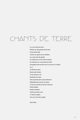 Chants de Terre, poème de Yann Morel pour Paysâmes de Johanne Gicquel